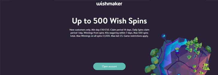 Wishmaker Casino Free Spins